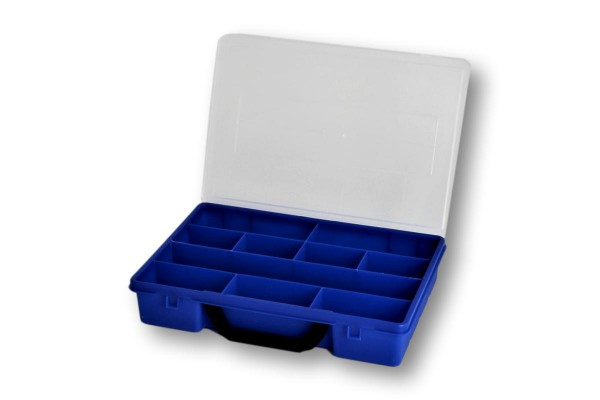 Sortierbox 280x200 blau C-10 10-Fächer
